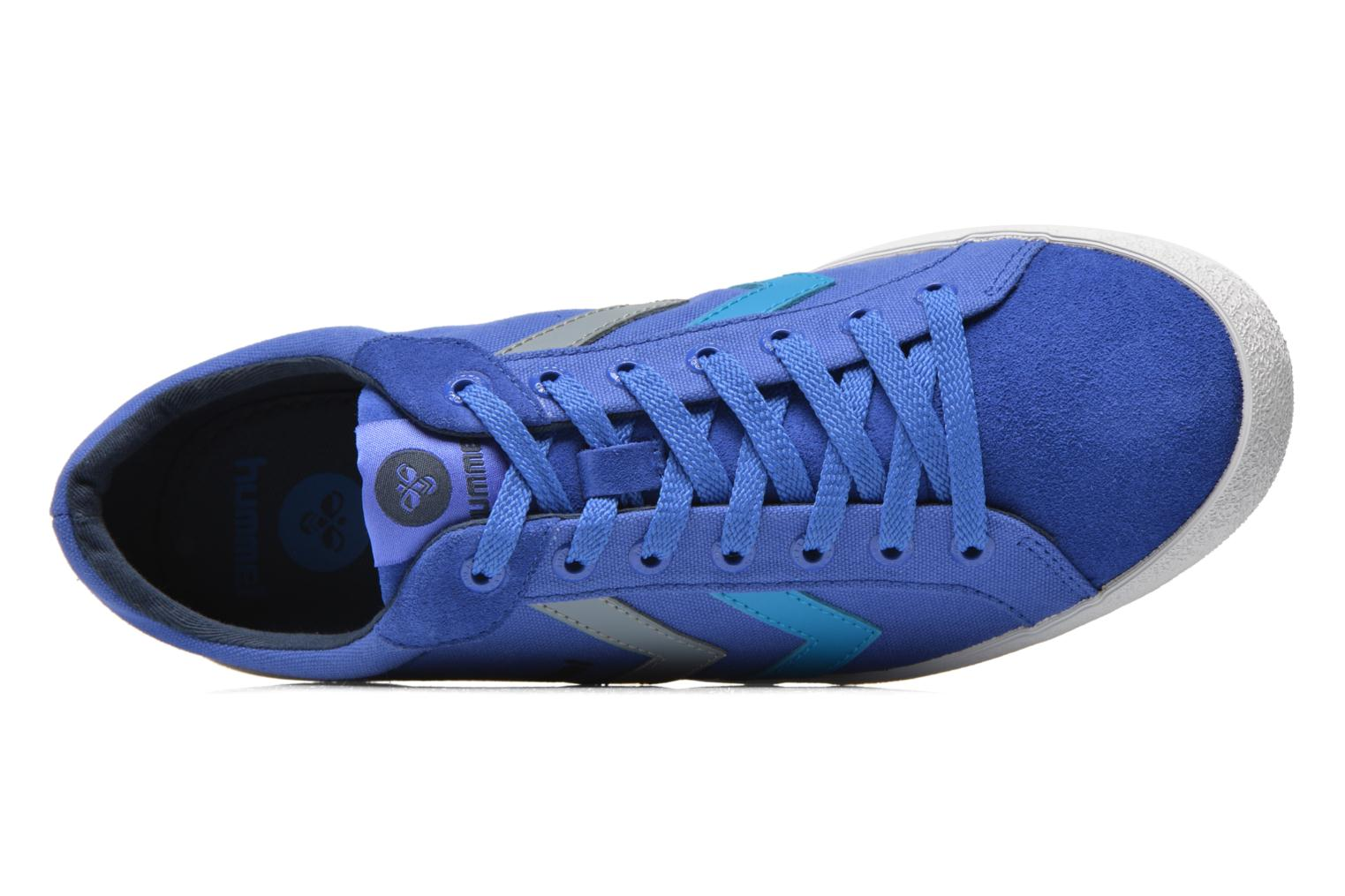 Trainers Hummel Deuce Court Summer Blue view from the left
