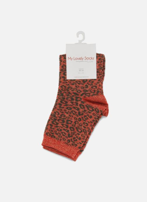 Calze e collant My Lovely Socks Rose Rosso immagine posteriore