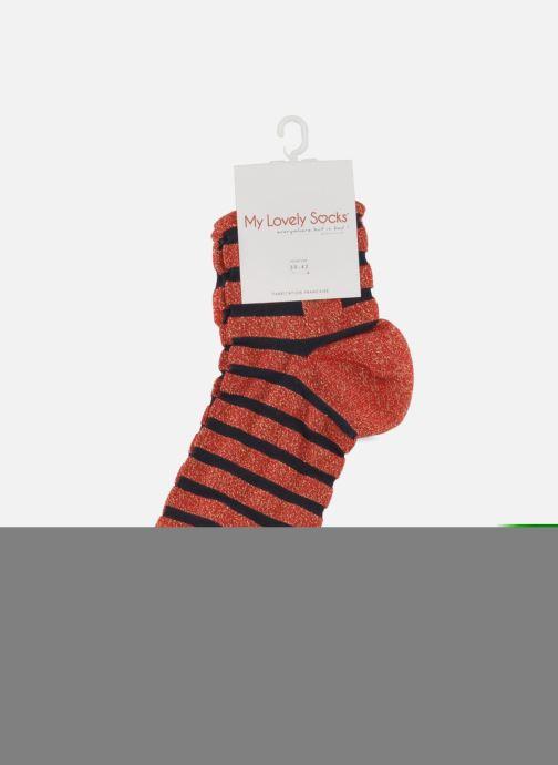 Socken & Strumpfhosen My Lovely Socks Faustine rot ansicht von hinten