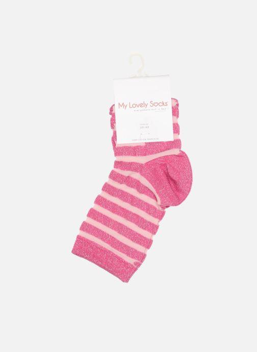 Chaussettes et collants My Lovely Socks Chaussettes Mixte Faustine Rose vue droite