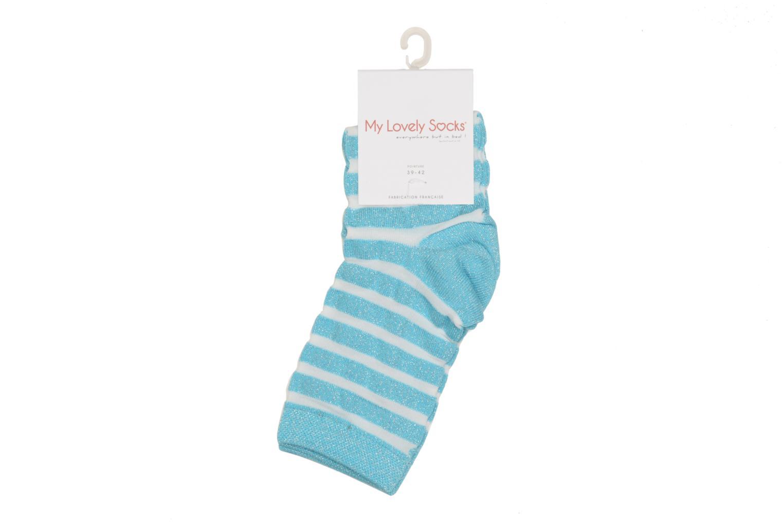Chaussettes et collants My Lovely Socks Chaussettes Mixte Faustine Bleu vue portées chaussures
