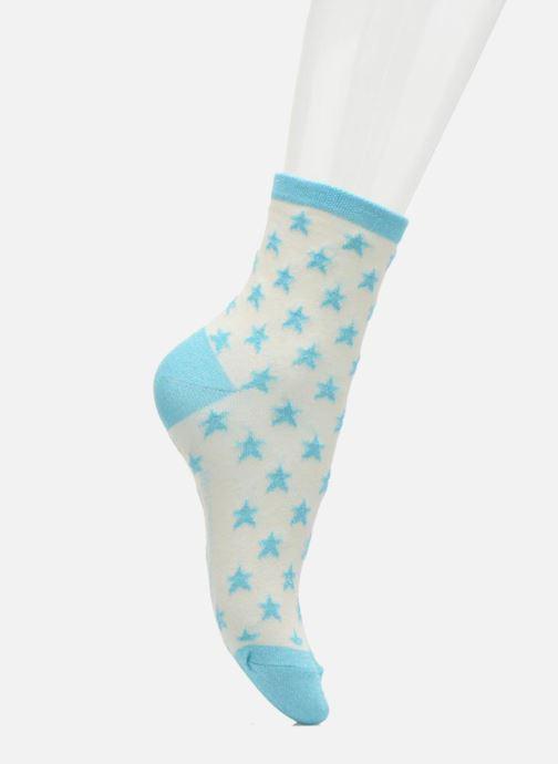 Chaussettes et collants My Lovely Socks Chaussettes Mixte Celeste Blanc vue face