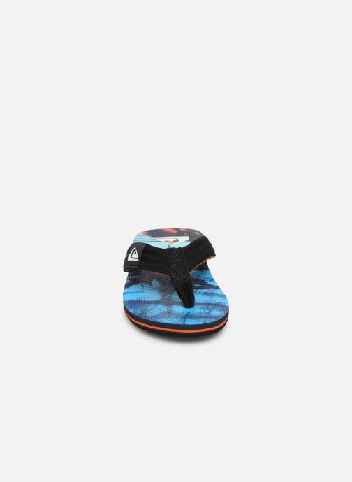 Tongs Quiksilver MOLOKAI LAYBACK YOUTH Noir vue portées chaussures