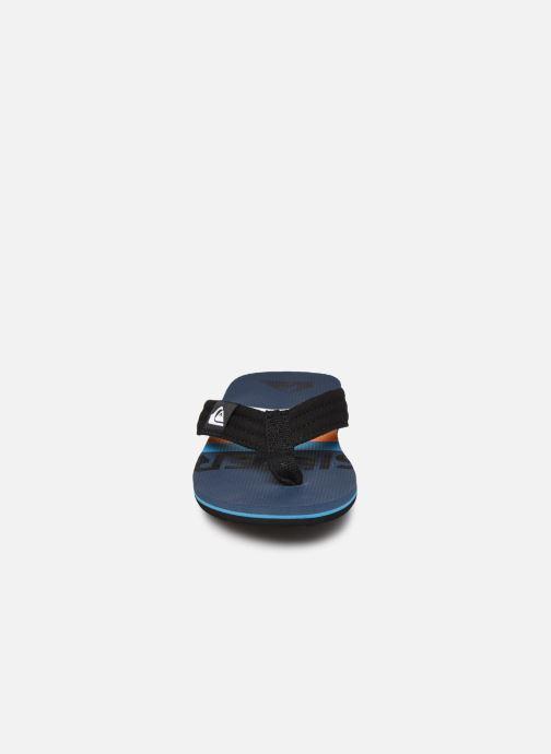 Zehensandalen Quiksilver MOLOKAI LAYBACK YOUTH blau schuhe getragen