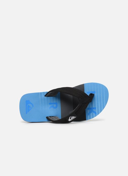 Tongs Quiksilver MOLOKAI LAYBACK YOUTH Bleu vue gauche