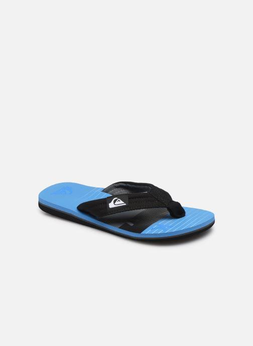 Flip flops & klipklapper Quiksilver MOLOKAI LAYBACK YOUTH Blå detaljeret billede af skoene