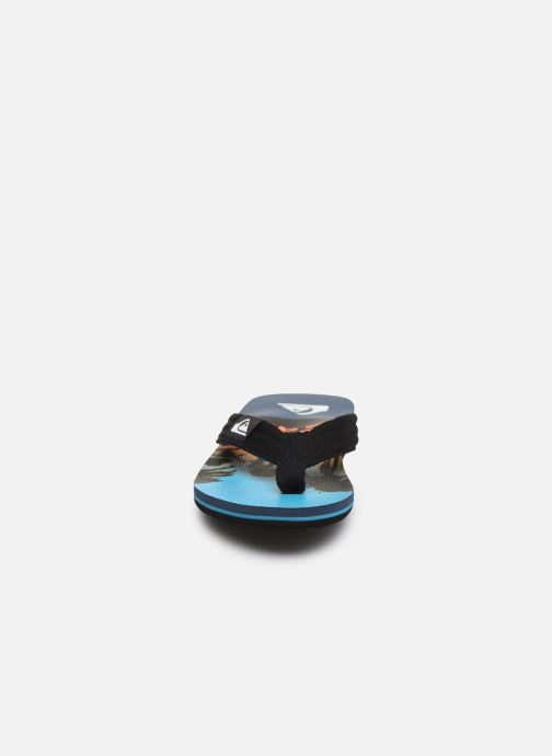 Tongs Quiksilver MOLOKAI LAYBACK YOUTH Bleu vue portées chaussures