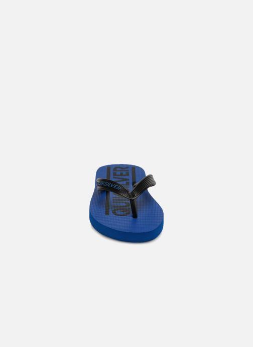 Chanclas Quiksilver JAVA WORDMARK YOUTH Azul vista del modelo