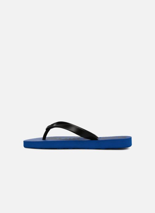 Flip flops Quiksilver JAVA WORDMARK YOUTH Blue front view