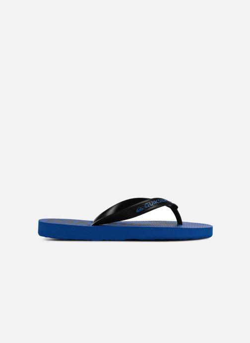 Flip flops Quiksilver JAVA WORDMARK YOUTH Blue back view