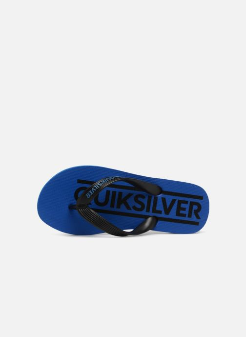 Flip flops Quiksilver JAVA WORDMARK YOUTH Blue view from the left