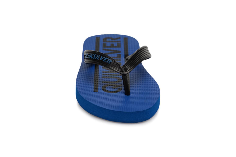 Tongs Quiksilver JAVA WORDMARK YOUTH Bleu vue portées chaussures