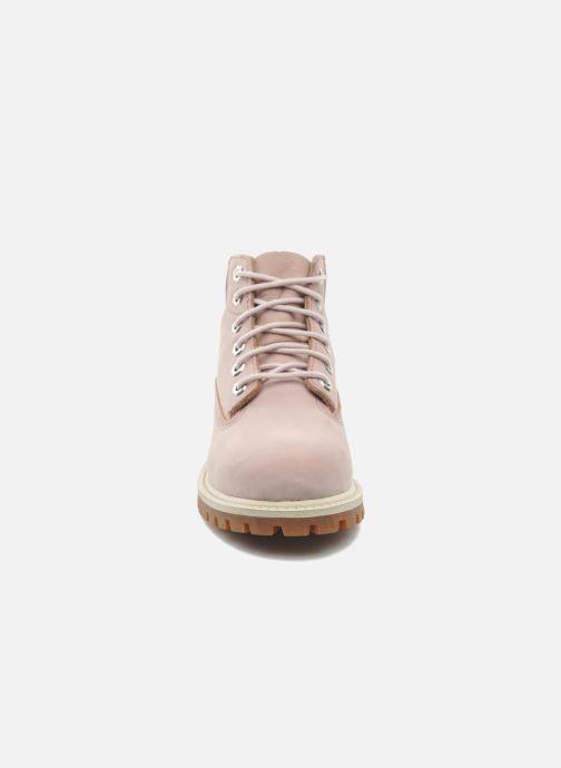 Stiefeletten & Boots Timberland 6IN PREM WP BT rosa schuhe getragen