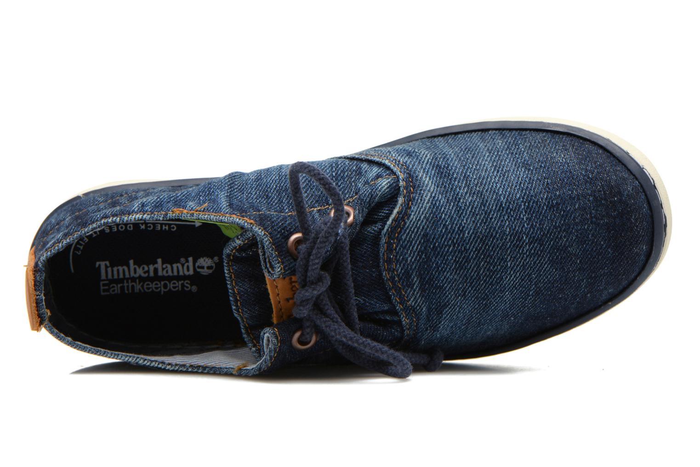 Sneaker Timberland Hookset Handcrafted Ox blau ansicht von links