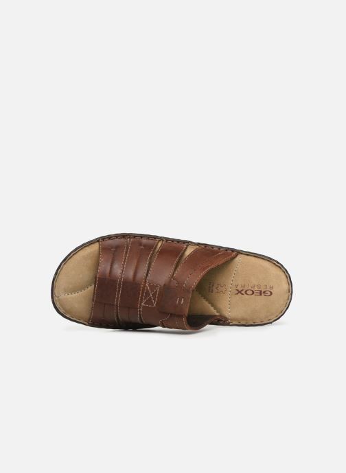 Sandales et nu-pieds Geox U Rufus B Marron vue gauche