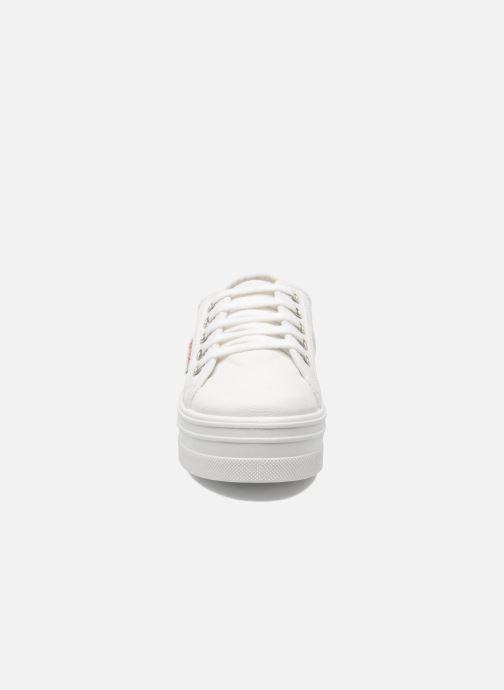 Baskets Victoria Blucher Lona Plataforma Kids Blanc vue portées chaussures