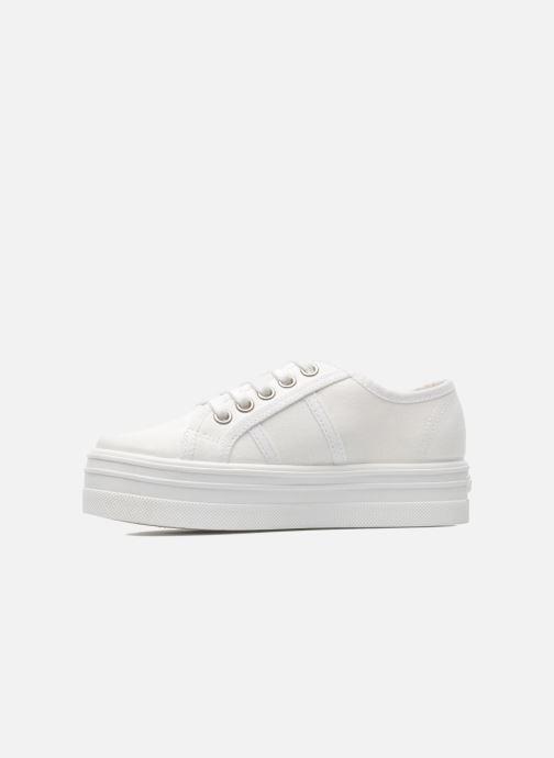Sneakers Victoria Blucher Lona Plataforma Kids Bianco immagine frontale