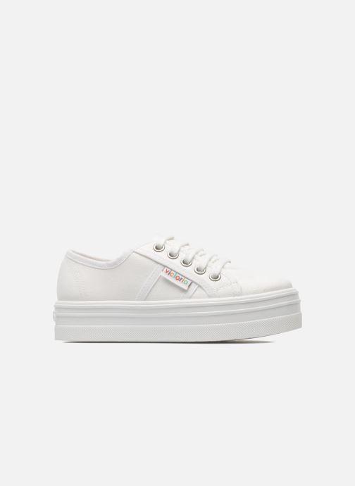 Sneakers Victoria Blucher Lona Plataforma Kids Bianco immagine posteriore