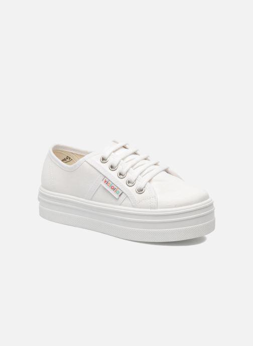 Sneakers Victoria Blucher Lona Plataforma Kids Hvid detaljeret billede af skoene