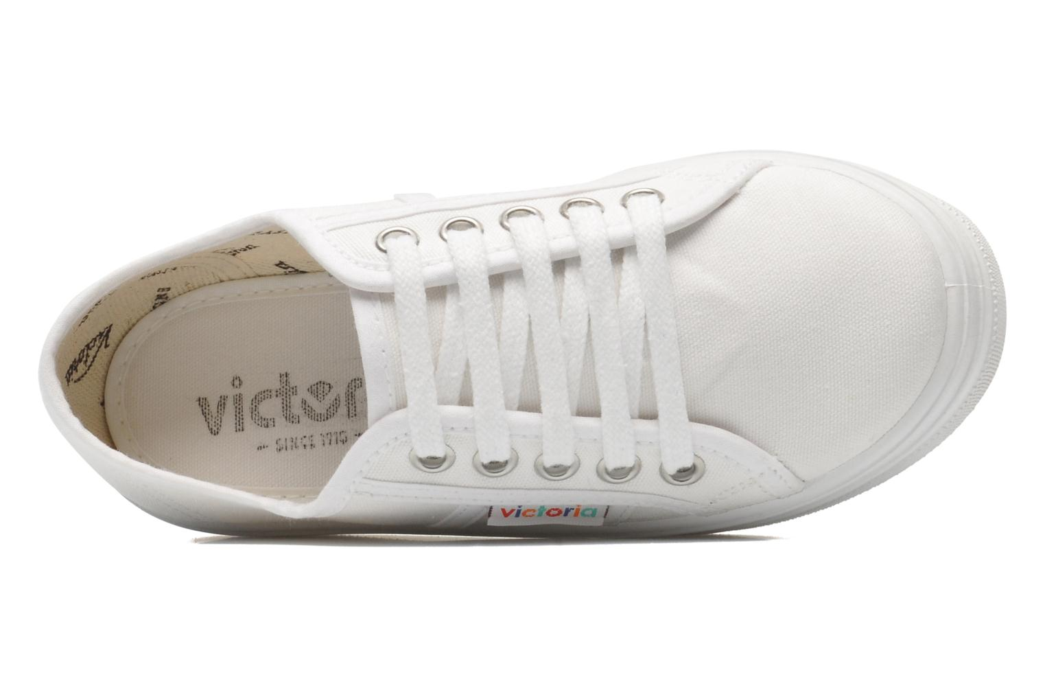 Trainers Victoria Blucher Lona Plataforma Kids White view from the left