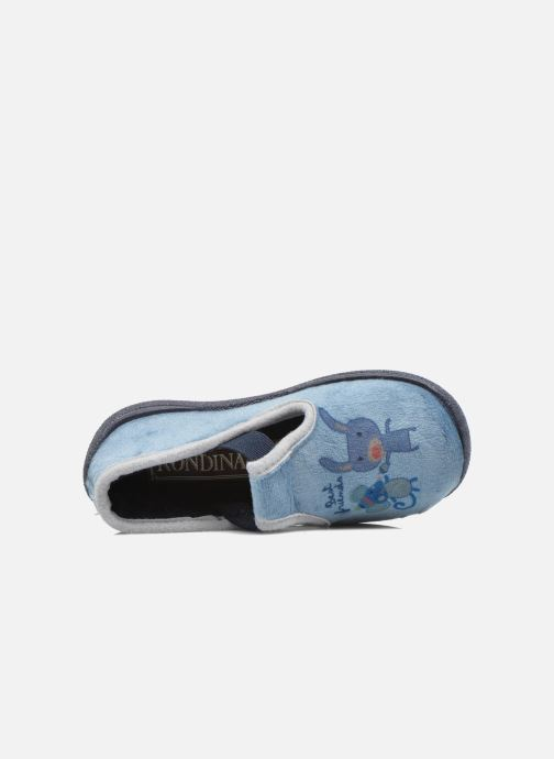 Pantuflas Rondinaud DEFI Azul vista lateral izquierda