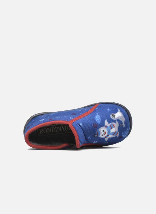 Pantoffels Rondinaud GESSY Blauw links