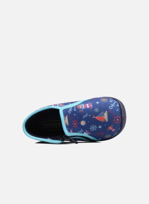 Pantofole Rondinaud GESSY Azzurro immagine sinistra