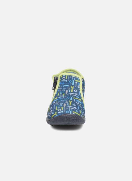 Pantofole Rondinaud GESSY Azzurro modello indossato