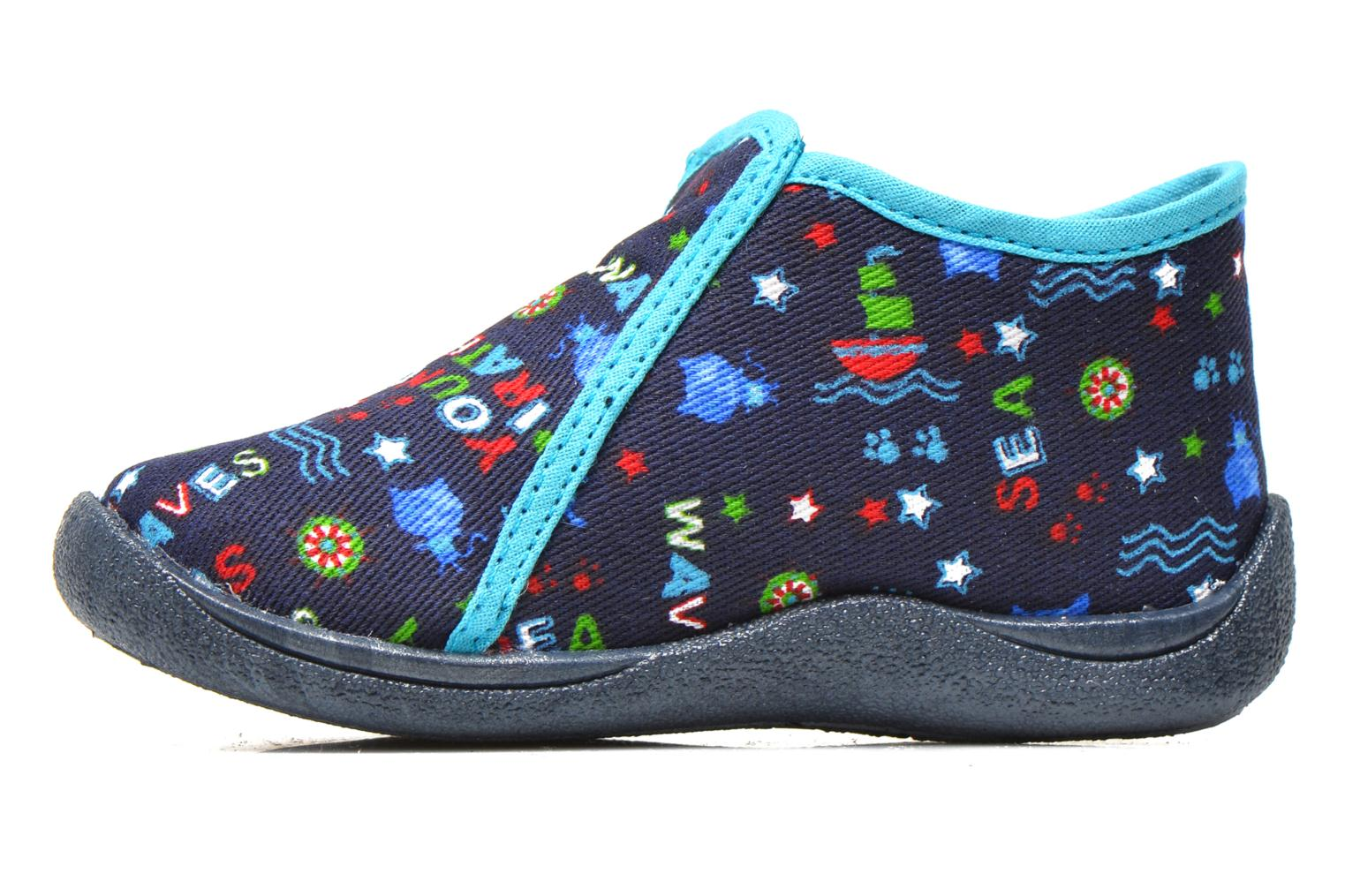 Slippers Rondinaud GESSY Blue front view