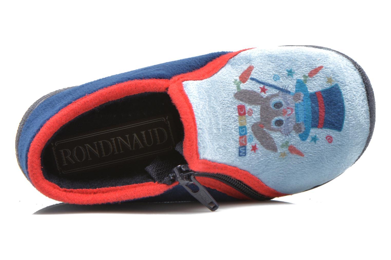 Chaussons Rondinaud GESSY Bleu vue gauche