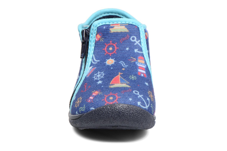 Chaussons Rondinaud GESSY Bleu vue portées chaussures