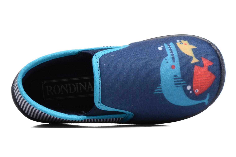 Chaussons Rondinaud JERRY Bleu vue gauche