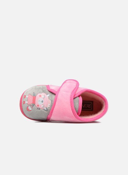 Pantofole Rondinaud RECENT Rosa immagine sinistra