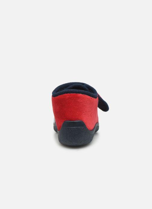 Pantuflas Rondinaud RECENT Rojo vista lateral derecha