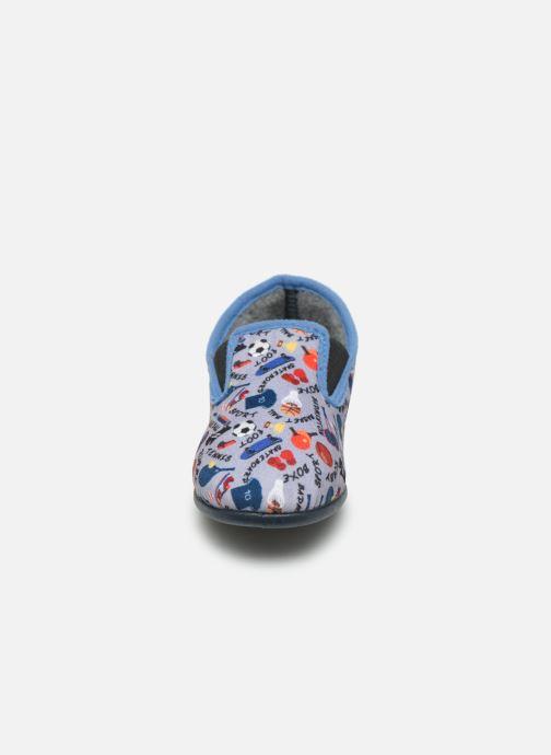 Pantofole Rondinaud JAVA Grigio modello indossato