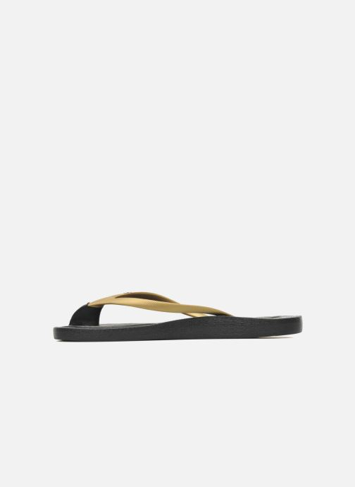 Flip flops Ozify Classic W Bronze and Gold front view