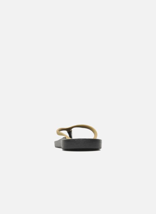 Flip flops Ozify Classic W Bronze and Gold view from the right