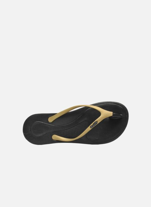 Flip flops Ozify Classic W Bronze and Gold view from the left