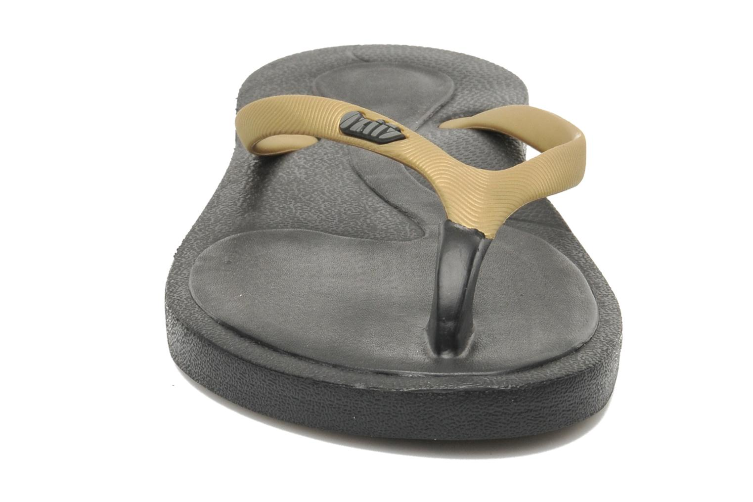 Flip flops Ozify Classic W Bronze and Gold model view