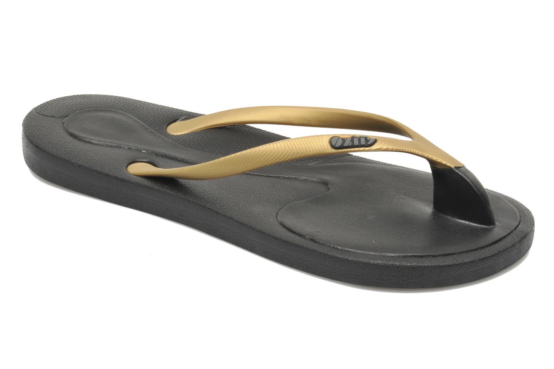 Tongs Ozify Classic W Or et bronze vue détail/paire