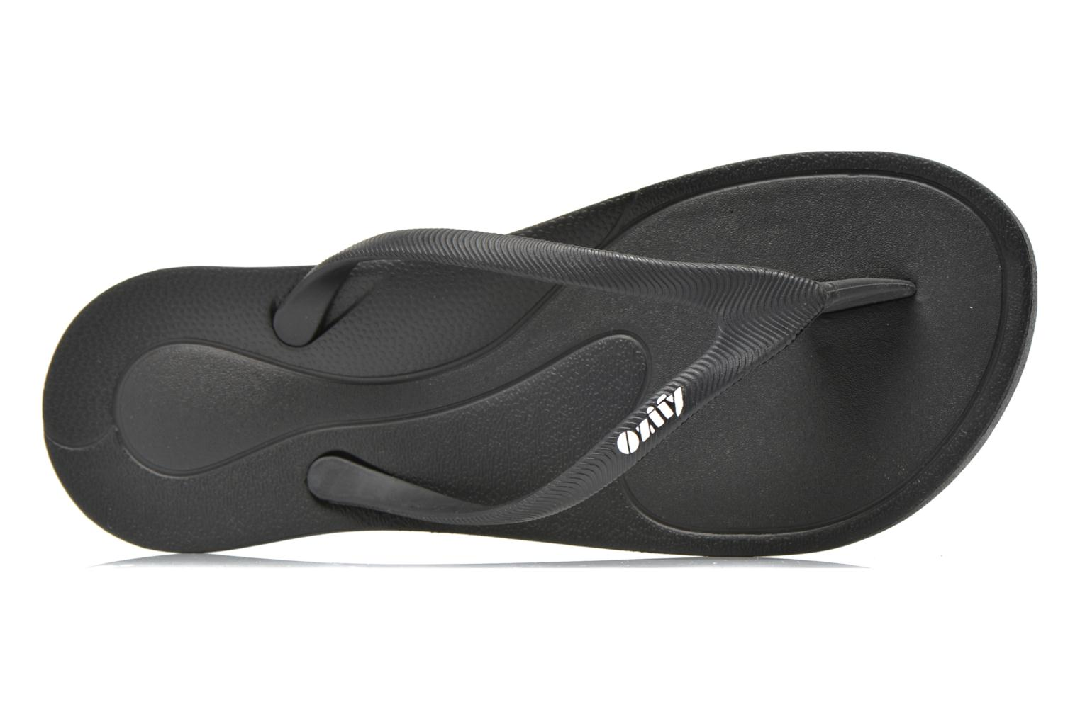 Flip flops Ozify Classic W Black view from the left
