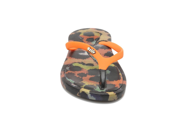 Tongs Ozify Prints W Orange vue portées chaussures