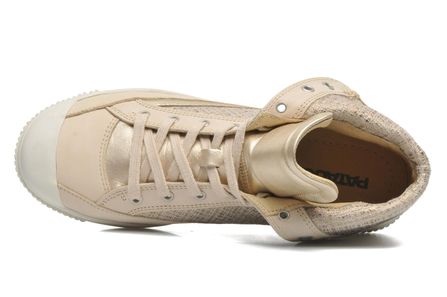 Trainers Pataugas Bandit F Bronze and Gold view from the left