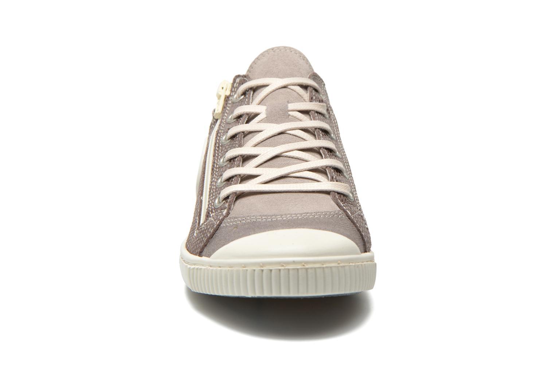Baskets Pataugas Bisk Gris vue portées chaussures