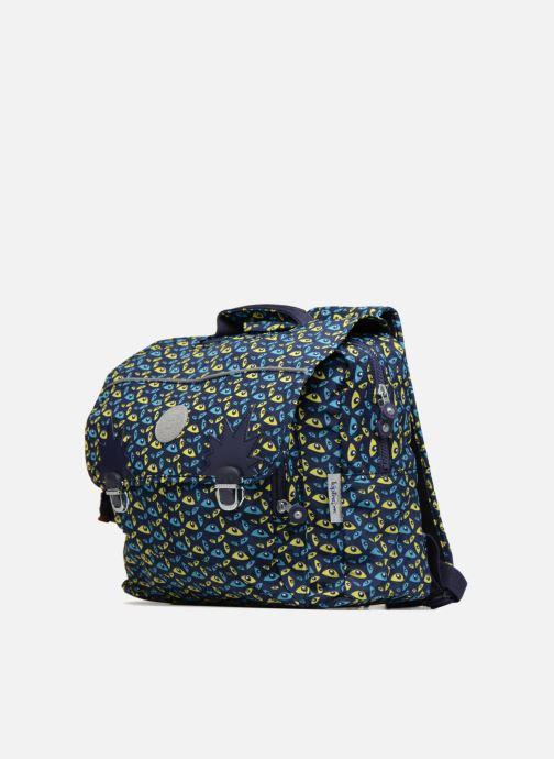 Scolaire Kipling INIKO 40CM Bleu vue portées chaussures
