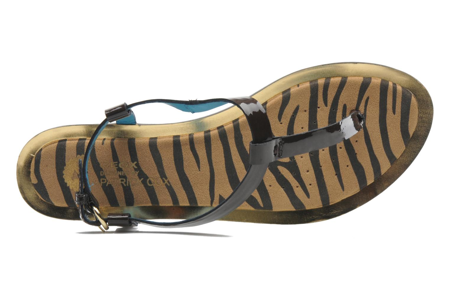 Sandals Geox D Sweetness A Brown view from the left