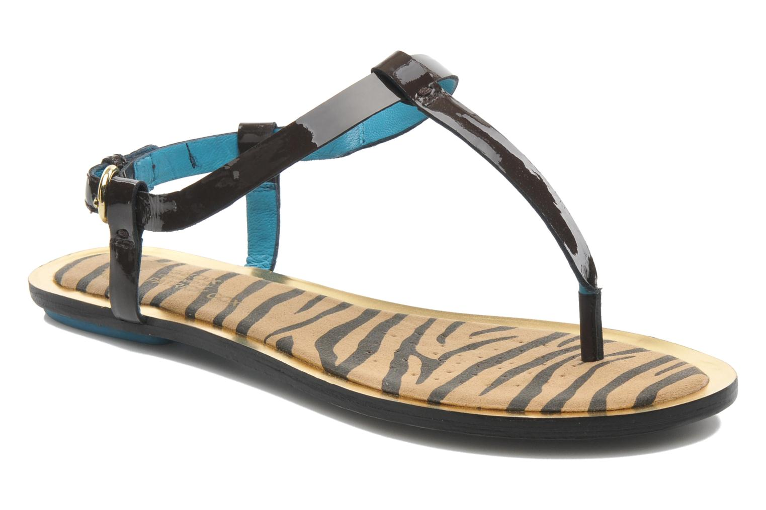 Sandals Geox D Sweetness A Brown detailed view/ Pair view