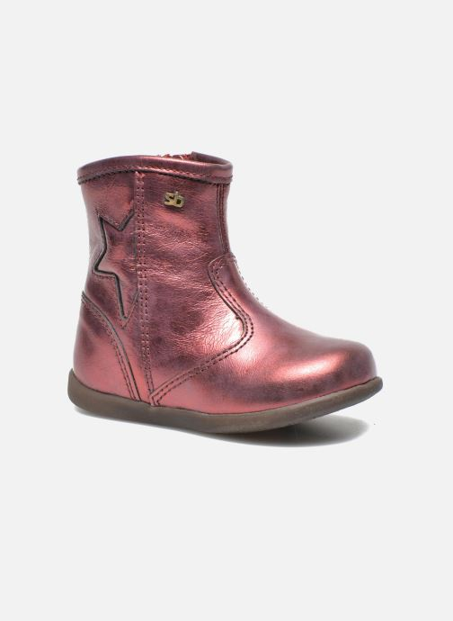 Ankle boots Stones and Bones SENA Burgundy detailed view/ Pair view