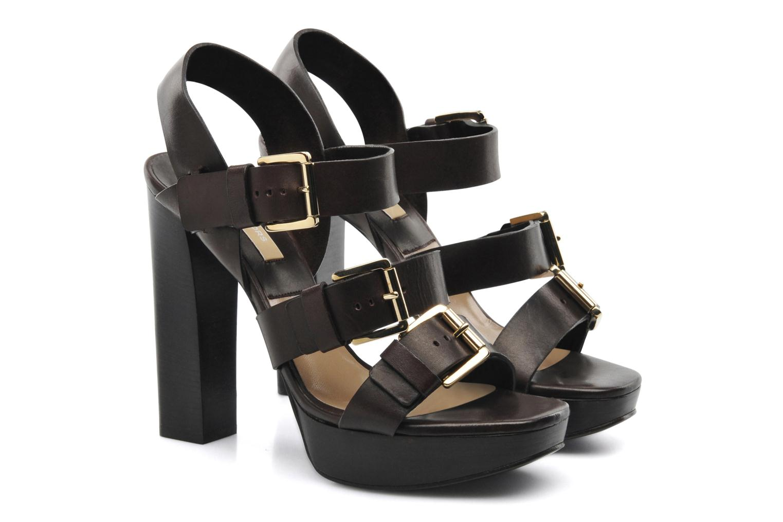 Sandals Michael Michael Kors Grenaya Brown 3/4 view