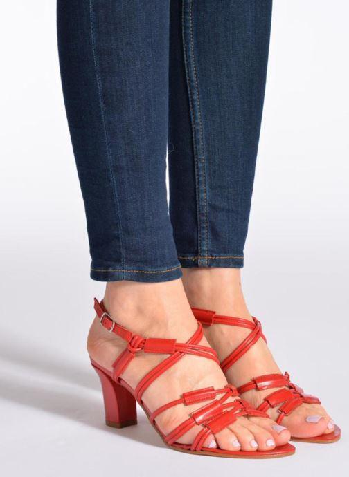 Sandales et nu-pieds Elizabeth Stuart Bakou Beige vue bas / vue portée sac